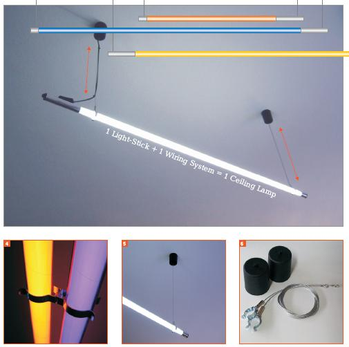 Ceiling Hanging Fluorescent Tube System